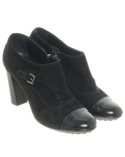 preowned schwarze ankle boots. Black Bedroom Furniture Sets. Home Design Ideas