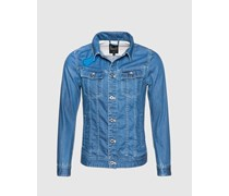 G-STAR RAW Jeansjacke 'Slim Tailor 3D - RAW FOR THE OCEANS' blau