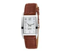 ESPRIT Armbanduhr, Esprit, »fundamental white brown, ES000EO2008« bunt