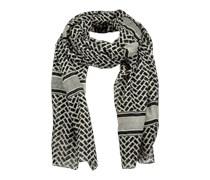 PIECES Großer Schal aus Modal 'Nizana' schwarz/grau