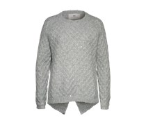 DAY BIRGER ET MIKKELSEN Pullover mit Metallic Finish 'Stitch' silber/grau