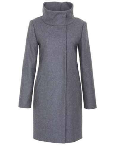 hallhuber mantel mit stehkragen grau. Black Bedroom Furniture Sets. Home Design Ideas