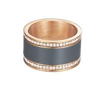ESPRIT Ring, »classy anthracite rose, ESRG12429C«, Esprit bunt