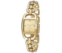 ESPRIT Armbanduhr, »faye gold, ES107182003«, Esprit gold