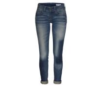 G-STAR RAW Skinny Jeans mit Used Waschung  'Lynn' indigo