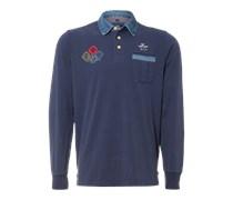 New Zealand Auckland Poloshirt 'Rugby' blau