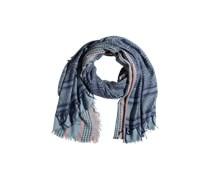 PIECES Viskosemix-Schal mit Fransen rauchblau/rostrot