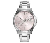 ESPRIT Esprit Armbanduhr, »ES-cecilia silver, ES108432002« silber