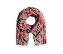 PIECES Schal mit Fransen 'Jimsa' pink/orange/mischfarben