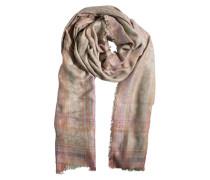 PIECES Großer Schal aus Viskose 'Jowi' ocker/mischfarben
