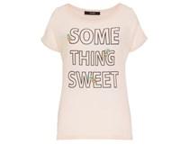 HALLHUBER Ananas Shirt mit Statement-Print pink