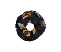 PIECES Loop-Schal aus Viskose 'Marint' schwarz/gold