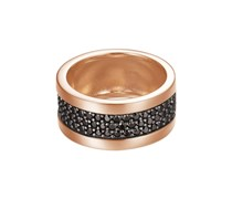 ESPRIT Ring, Esprit, »black-rose pure pave wide, ESRG92215B« silber