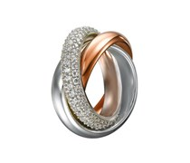ESPRIT Ring, »periboia rose, ELRG91620A«, Esprit Collection silber
