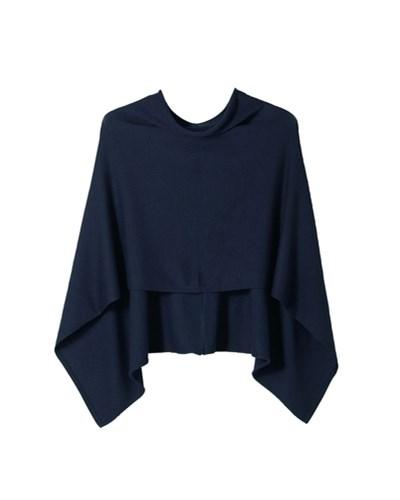 s oliver damen s oliver junior feinstrick poncho blau reduziert. Black Bedroom Furniture Sets. Home Design Ideas