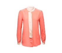 DAY BIRGER ET MIKKELSEN Seidenbluse im Two-Tone-Look orange