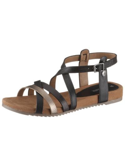 s oliver damen s oliver sandale s oliver schwarz reduziert. Black Bedroom Furniture Sets. Home Design Ideas