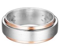 ESPRIT Ring, »modern shape bicolour, ESRG92278B«, Esprit silber