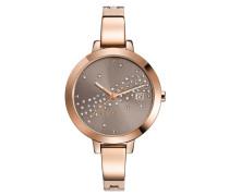 ESPRIT Esprit Armbanduhr, »ES-amelia dazzle rose gold, ES108482002« bunt