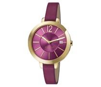 ESPRIT Armbanduhr, »arienne purple gold, ES1072242006«, Esprit bunt