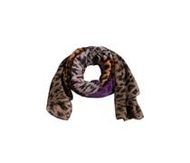 PIECES Schal im Animal Look 'Lixue' lila/orange/braun