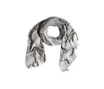 PIECES Viskosemix-Schal mit Fransen creme/schwarz