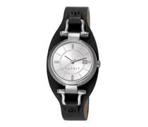 ESPRIT Armbanduhr, Esprit, »cuff chic black, ES106782001« schwarz