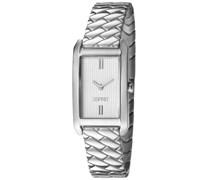 ESPRIT Armbanduhr, »weaves silver, ES106032006«, Esprit anthrazit