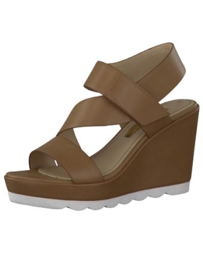 tamaris damen tamaris sandalen braun reduziert. Black Bedroom Furniture Sets. Home Design Ideas