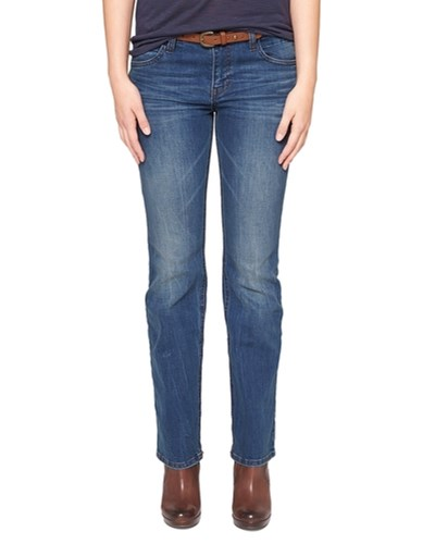 oliver damen s oliver bootcut jeans mit g rtel blau 18 reduziert. Black Bedroom Furniture Sets. Home Design Ideas