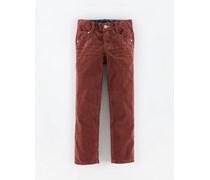 Kastanie Cord Schmale Jeans