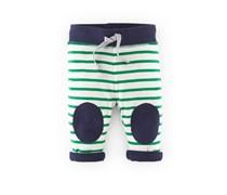 Navy/Klee Streifen Wendbare schmale Hose mit Knieflicken