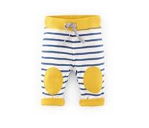 Gelb/Blau Streifen Wendbare schmale Hose mit Knieflicken