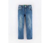 Vintage Indigo Denim Schmale Jeans