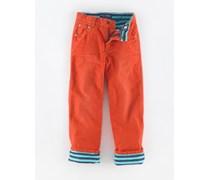 Kürbis Gefütterte Jeans