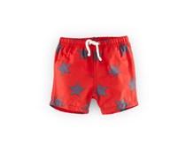 Rot/Grau Stern Schwimmshorts für Jungs