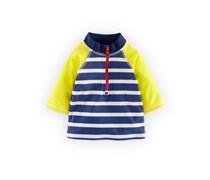 Gelb/Blau Streifen Badeshirt mit Sonnenschutz