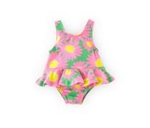 Rosa Blümchen Badeanzug für Mädchen
