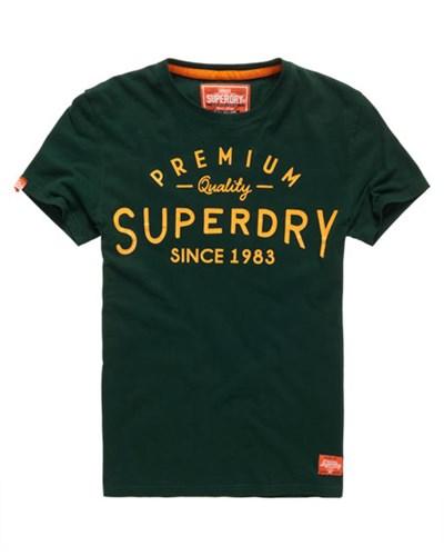 superdry herren superdry herren selvedge t shirt gr n reduziert. Black Bedroom Furniture Sets. Home Design Ideas