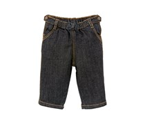 Petit Bateau Baby - Mädchen Jeans Pantalon, Einfarbig, Gr. 62 (Herstellergröße: 3M/60Cm), Blau (Jean 69)