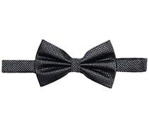 s.Oliver Premium Herren Fliege aus Seide, Einfarbig, Gr. One size (Herstellergröße: 1), Schwarz (black 9999)
