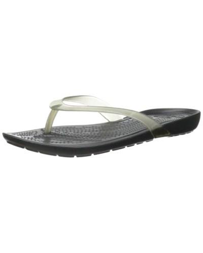 crocs damen crocs reallysexiflipw damen zehentrenner sandalen schwarz black black 060 39 40. Black Bedroom Furniture Sets. Home Design Ideas