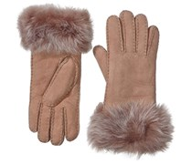 Emu Damen Handschuhe Augusta Gloves, Einfarbig, Gr. Medium (Herstellergröße: M/L), Braun (Mushroom)