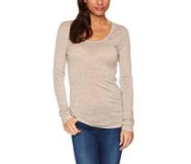 EMU Australia Damen T-shirt  Opaque Asymmetrisch, Scoop  - Elfenbein - Sand Marle - Medium
