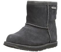 Emu Brumby Mini, Mädchen Kurzschaft Stiefel, Grau (Charcoal), 35 EU (2 Kinder UK)