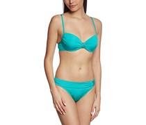 Palmers Damen Bikini-Set gefüttert Fusion, Einfarbig, Gr. 38, 75D (Herstellergröße: D/S (Cup D/Größe S)), Türkis (Aqua 542)