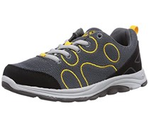 Jack Wolfskin FAIRPORT LOW K, Unisex-Kinder Sneakers, Grau (burly yellow 3800), 31 EU (12 Kinder UK)