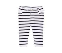 Petit Bateau Baby - Jungen Hose Pantalon, Gestreift, Gr. 86 (Herstellergröße: 18M/81Cm), Mehrfarbig (Ecume/Abysse)