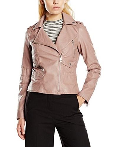 esprit damen esprit damen lederjacke jacke im bikerstil gr 40 rosa pink 670 reduziert. Black Bedroom Furniture Sets. Home Design Ideas