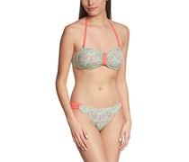 Palmers Damen Bikini-Set Bandeau Dream, mit Print, Gr. 40, 80C (Herstellergröße: C/M (CUP C/Größe M)), Mehrfarbig (Bunt 199)